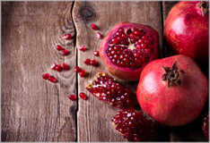 Pomegranate – jewel-like seeds protected by a tough skin